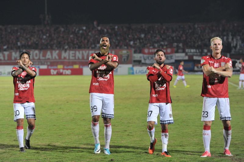 Bali United duduki posisi dua Liga 1 2017. (Foto: ANTARA/Nyoman Budhiana)