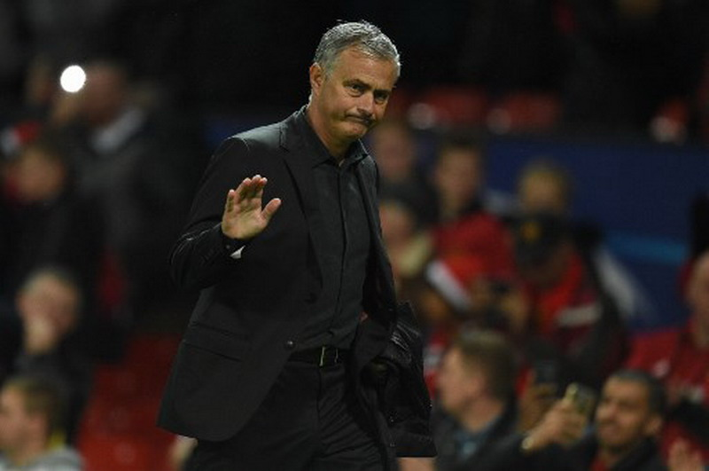 Mourinho kesal terhadap permainan Setan Merah. (Foto: AFP/Oli Scarff)