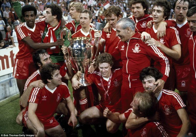 Nottingham Forest saat juara Piala Champions 1980. (Foto: Bob Thomas/Getty Images)