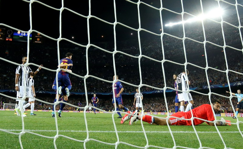 Juventus tunduk di hadapan Barcelona (Foto: Susana Vera/REUTERS)