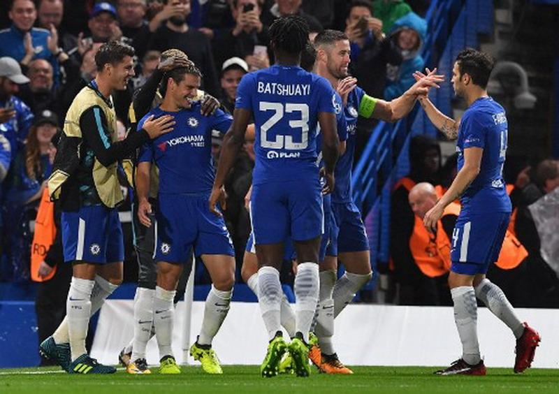 Chelsea raih kemenangan atas Qarabag. (Foto: AFP/Ben Stansall)