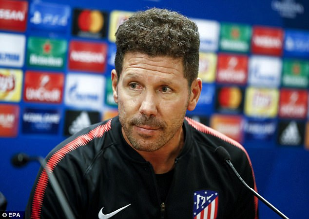 Pelatih Atletico Madrid, Diego Simeone (Foto: EPA)
