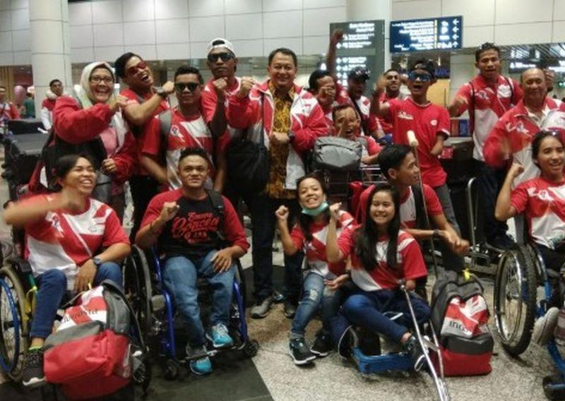 Kontingen Indonesia di ASEAN Para Games 2017 (Foto: Antara)