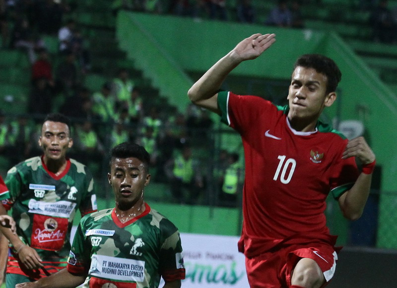 Egy Maulana calon top skor Piala AFF U-18 2017. (Foto: ANTARA/Ari Bowo Sucipto)
