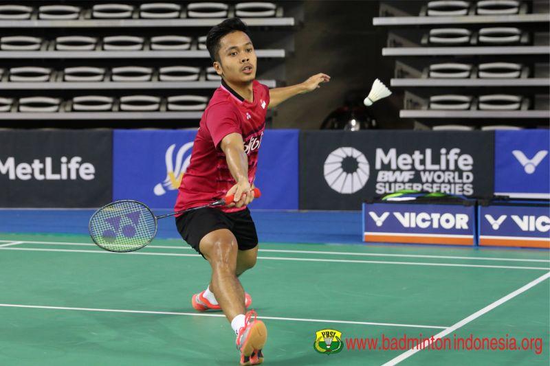 Tunggal putra Indonesia, Anthony Sinisuka Ginting menjuarai Korea Open Superseries 2017 (Foto: Laman resmi PBSI)