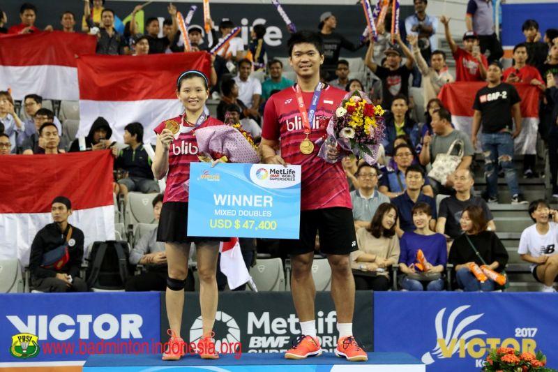 Ganda campuran Indonesia, Praveen Jordan/Debby Susanto menjuarai Korea Open Superseries 2017 (Foto: Laman resmi PBSI)