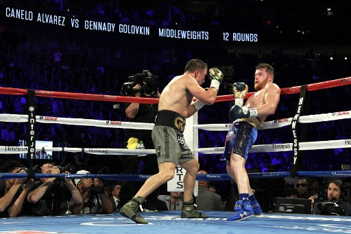 Golovkin vs Alvares (Foto:AFP)