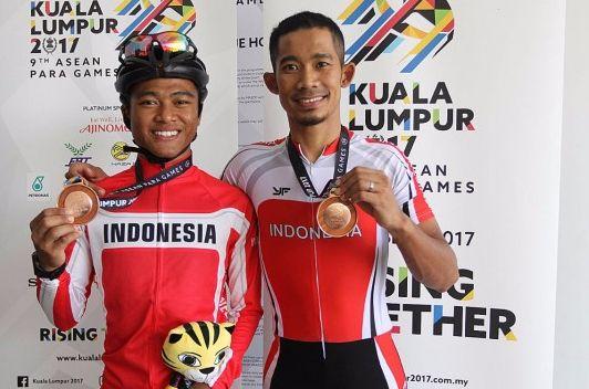 Tim Paracycling Indonesia raih medali perunggu di ASEAN Para Games 2017 (Foto: Antara)