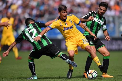 Juventus kalahkan Sassuolo dengan skor 3-1 di Liga Italia 2017-2018 (Foto: AFP)