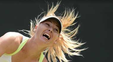 Terganggu angin, Sharapova selamat ke babak keempat