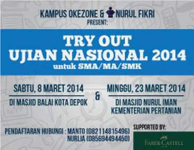 Try Out UN 2014 Bersama Kampus Okezone