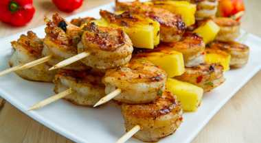 Resep Kebab Udang Nanas