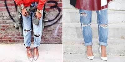 Styling Jeans dengan Lipatan Sederhana