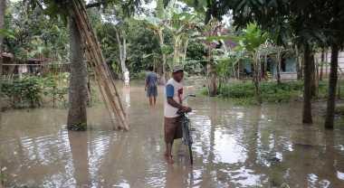 Tanggul Jebol, Puluhan Rumah di Grobogan Terendam