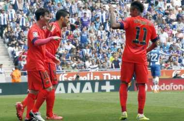 Setelah Cetak Hattrick, Suarez Langsung Puji Messi