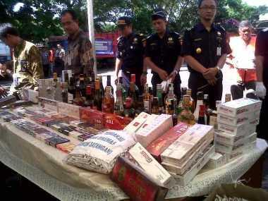 Bea Cukai Sulawesi Sita Jutaan Rokok