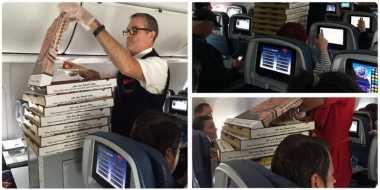 Delta Flight Beri Piza untuk Penumpang Terjebak