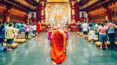 Ritual Waisak 2015 di Singapura