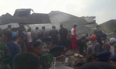 Pesawat Hercules Bawa Prajurit Piket Menuju Pekanbaru