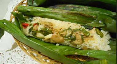 Resep Nasi Ketan Bungkus Ayam Jamur Shitake
