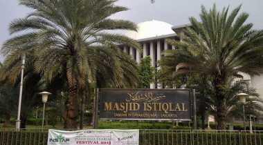 Simbol Kemerdekaan Indonesia Tergambar di Masjid Istiqlal