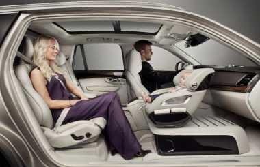 Tim Desain Mobil Volvo Perkenalkan Jok Putar untuk Anak