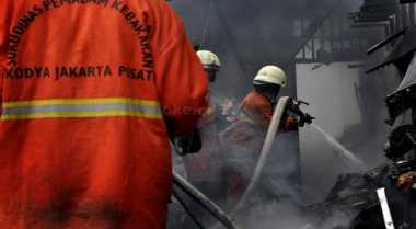 Permukiman Penduduk di Tanah Abang Terbakar