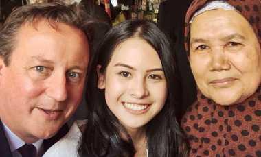 Maudy Ayunda Selfie dan Makan Pisang Goreng Bareng PM Inggris
