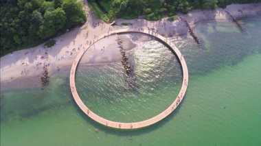 Jembatan di Denmark Berbentuk Lingkaran