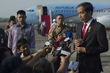 Hadiri Muktamar Muhammadiyah Jokowi Tampil Berjas