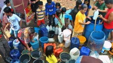BPBD Suplay Air untuk Korban Kekeringan di Musirawas