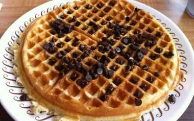 Resep Double Chocolate Chip Waffle