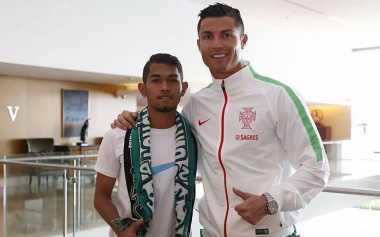 Pulang ke Portugal, Ronaldo Lepas Kangen dengan Martunis