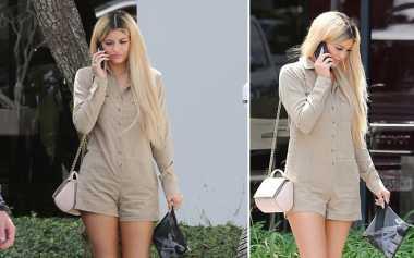 Kylie Jenner Tampil Edgy dengan Rambut Warna Baru