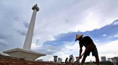 Akhir Pekan, Jakarta Cerah Berselimut Awan