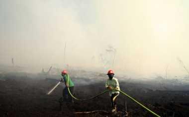 Asap Kebakaran Lahan di Sampit Bertambah Pekat