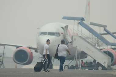 Kabut Asap Tunda Penerbangan di Banjarmasin