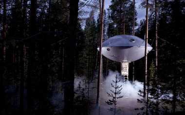 Mengintip Keunikan Hotel UFO di Swedia