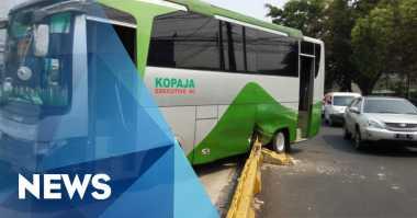 Ditabrak Transjakarta, Penumpang Kopaja Kocar-kacir