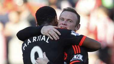 Rooney dan Martial Dipastikan Merumput Melawan PSV