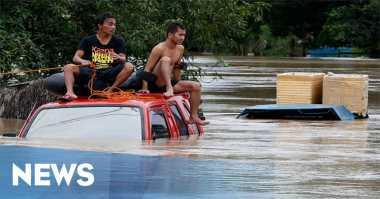 Sungai Rampah Meluap, Puluhan Rumah Terendam