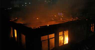 Kantor KPU Kalteng Kebakaran