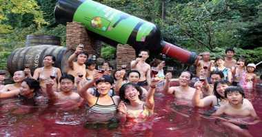 Alasan Orang Jepang Suka Mandi Wine