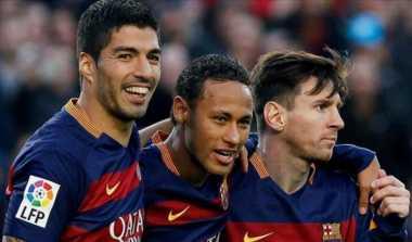 Suarez Bangga Messi dan Neymar Bersaing dengan CR7