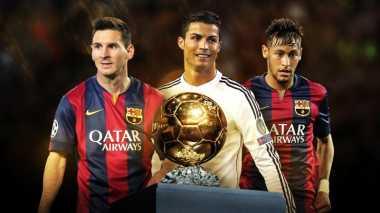 Jumlah Total Gol Ronaldo, Messi dan Neymar