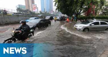 Hujan Deras, Sejumlah Ruas Jalan di Depok Tergenang Air