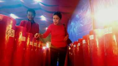 Lilin Imlek Vihara Tertua di Bogor Dijaga Ketat