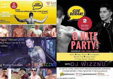 Beredar Broadcast LGBT Gelar Party di Surabaya