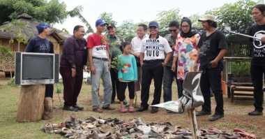 Sampah Sungai Cisadane Jadi Karya Seni Budaya Nusantara