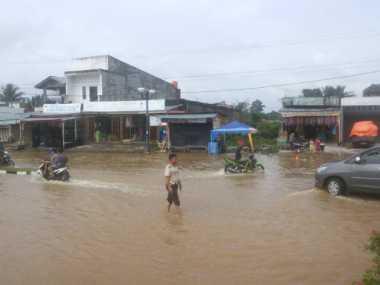Sempat Surut, Rokan Hulu Kembali Diterjang Banjir